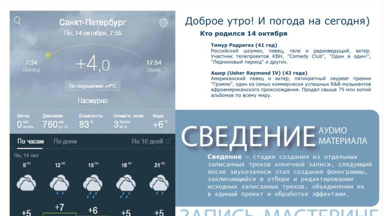 Прогноз погоды)))